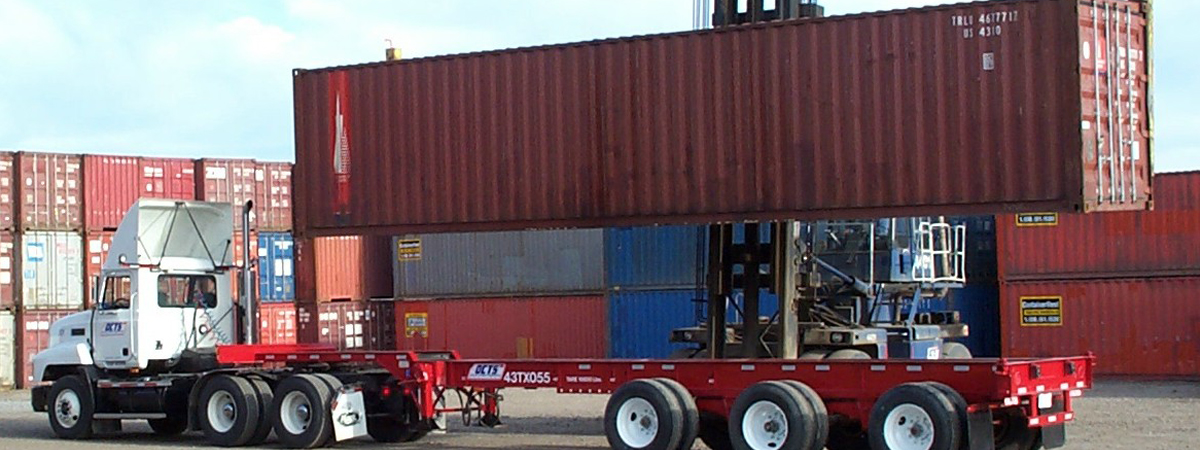 Truck loading freight